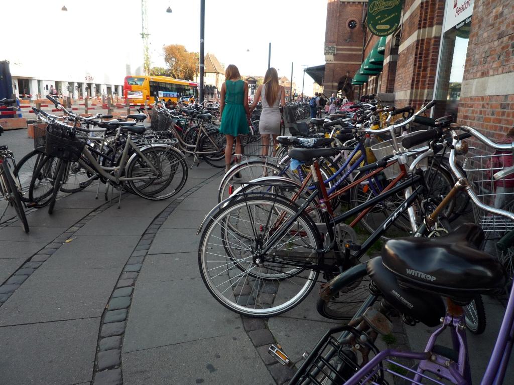 Bild geparkter Fahrräder am Hauptbahnhof
