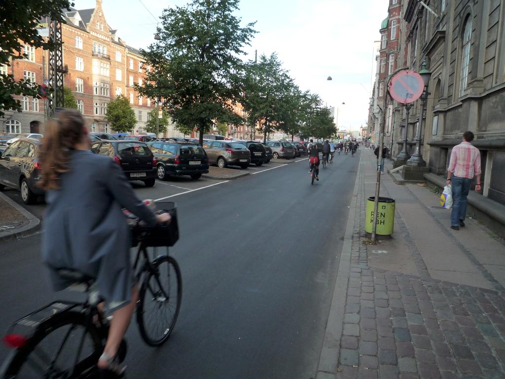 extra breiter Radweg Kopenhagen